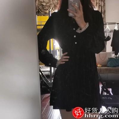 1610500008 O1CN015T7S9Y1mkNo08UCwk 0 rate.jpg 400x400 15e05a00 - 法式黑色赫本风丝绒连衣裙,打底小个子内搭裙子