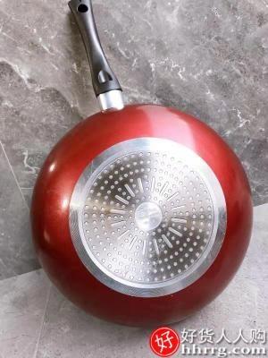 interlace,1# - 美的麦饭石不粘锅炒锅,电磁炉不沾家用燃气灶适用炒菜锅