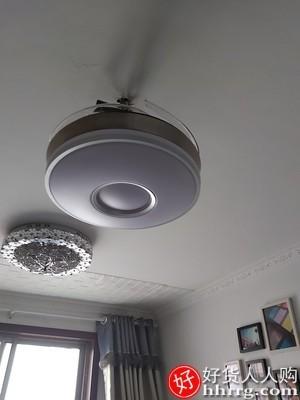 interlace,1# - 莱隽隐形风扇灯,轻奢吊扇灯家用客厅餐厅卧室吸顶带电风扇吊灯