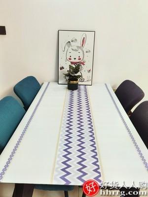 interlace,1# - 多美雅北欧软玻璃桌垫桌布,防水防油免洗PVC防烫塑料餐桌茶几垫