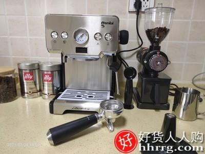 interlace,1# - 格米莱家用高压煮意式咖啡机,手动半自动小型蒸汽奶泡泵压