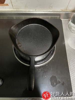 interlace,1# - 铁工房铸铁平底锅不粘锅煎锅,无涂层煎饼锅家用电磁炉燃气灶煎蛋锅