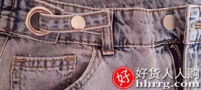 interlace,1# - 高腰阔腿裤春秋牛仔裤女,显瘦宽松垂感拖地直筒裤