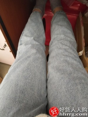 interlace,1# - 直筒宽松哈伦牛仔裤女,高腰显瘦春季阔腿老爹萝卜裤