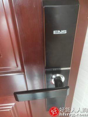 interlace,1# - ENS指纹锁家用防盗门密码锁,全自动滑盖指纹解锁门锁智能锁电子锁