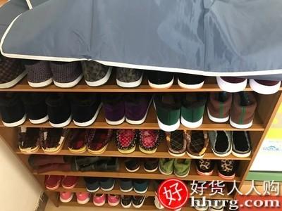 interlace,1# - 姿竹家用室内鞋架,多层卧室防尘收纳无门实木竹简易门口鞋柜