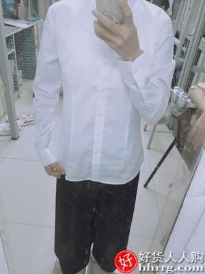 interlace,1# - 雪尚飞女士白衬衫,秋冬新款加绒长袖百搭方领上衣白色职业衬衣