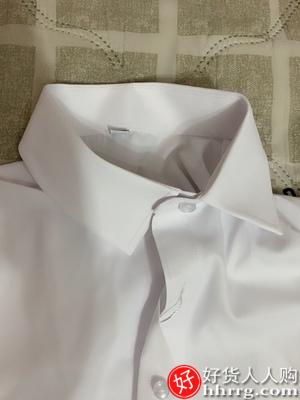 interlace,1# - 易文春秋季新款女士长袖白衬衫,方领正装职业工作服短袖衬衣上衣