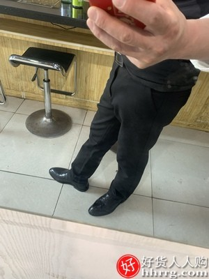 interlace,1# - 春夏季弹力男士西裤,休闲长裤子厚薄款修身直筒商务正装西装男裤