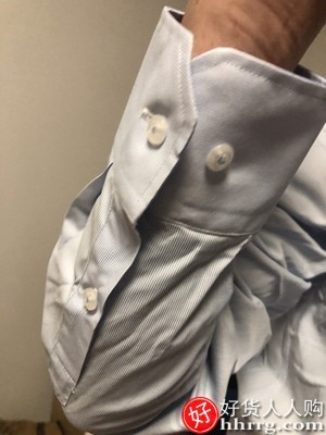 interlace,1# - 恒源祥男士长袖衬衫,白色条纹棉商务衬衣