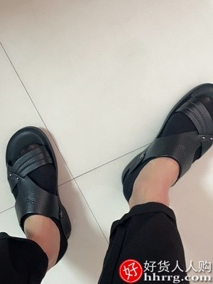 interlace,1# - 红蜻蜓男士凉鞋,真皮沙滩鞋夏季新款凉拖鞋两用凉鞋