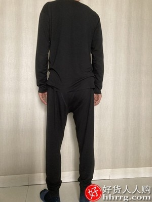 interlace,1# - 金利来男士保暖内衣套装,德绒无痕自发热恒温加绒冬季秋衣秋裤