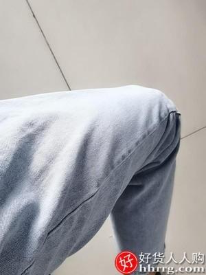interlace,1# - 男士牛仔裤阔腿直筒裤子,夏季薄款九分裤宽松浅色休闲长裤