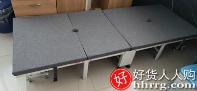 interlace,1# - 易瑞斯午休折叠床单人床,办公室便携床家用陪护简易床隐形四折床