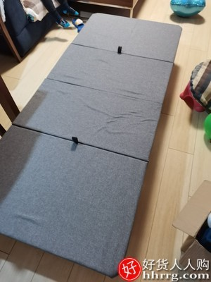interlace,1# - 一棵柠檬办公室折叠床午休单人床,便携四折午睡家用简易硬板医院陪护床