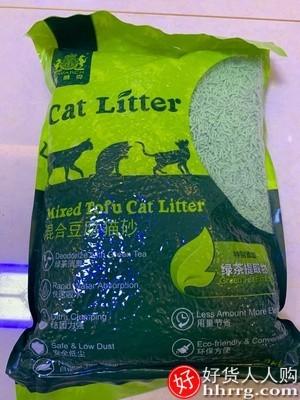 interlace,1# - 耐威克绿茶豆腐猫砂,除臭无尘猫沙6大袋混合膨润土