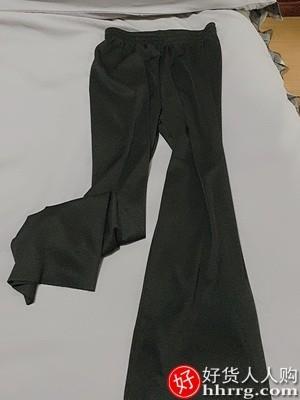 interlace,1# - 灰色阔腿裤女,薄款高腰垂感宽松直筒冰丝拖地裤