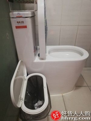 interlace,1# - 佳帮手高档垃圾桶,家用夹缝厕所卫生间客厅有盖窄按压式厨房大纸篓