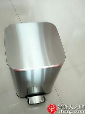interlace,1# - 佳帮手厨房大容量家用垃圾桶,脚踏式智能不锈钢带盖踩垃圾桶