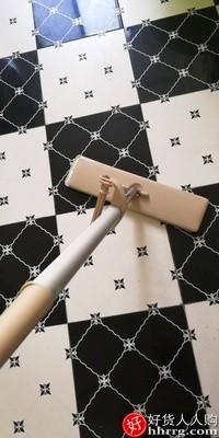 interlace,1# - 爱格懒人免手洗平板拖把,家用拖地一拖拖布木地板干湿两用净
