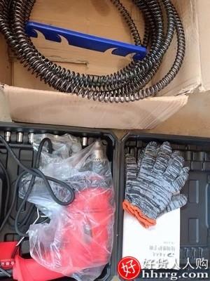 interlace,1# - 平安大通下水道疏通器,电动管道万能通马桶厨房地漏疏通机堵塞弹簧工具