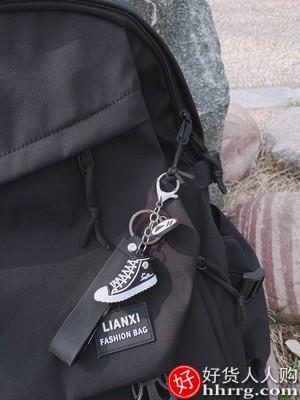 interlace,1# - 恋惜男女书包双肩包,大学生校园背包韩版简约百搭旅行电脑包