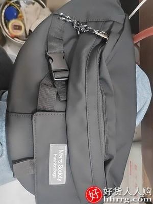 interlace,1# - 尼麦斜挎包单肩运动腰包,男士休闲日系新款小背包胸包