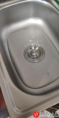 interlace,1# - 厨房不锈钢水槽,简易洗菜盆单槽水池水盆家用洗碗池洗手盆带支架