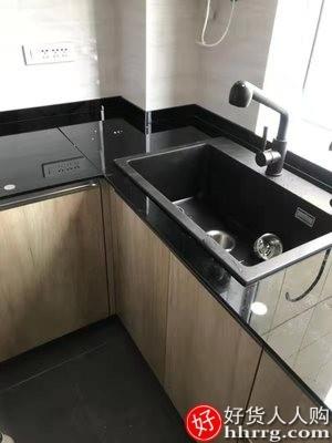 interlace,1# - 德国汉摩石英石水槽,单槽厨房洗菜盆洗碗池大号加厚台下上手工单盆