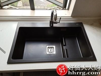 interlace,1# - 科恩纳石英石水槽单槽,厨房洗菜盆花岗岩洗碗池家用加厚带沥水套餐