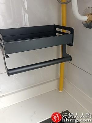 interlace,1# - 优勤免打孔壁挂式厨房置物架,家用调味料用品大全刀架挂架多功能收纳架