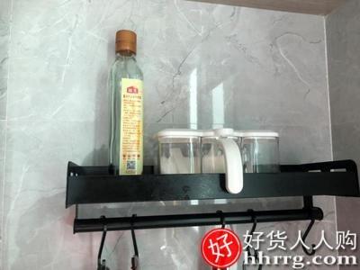 interlace,1# - 创步壁挂厨房收纳置物架,多功能碗碟架调味料刀架锅盖架子