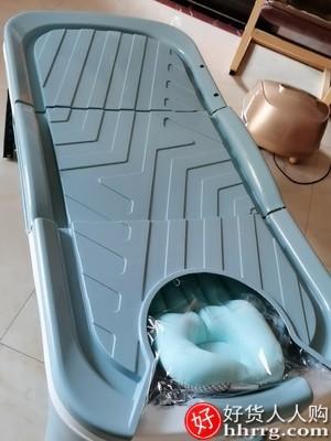 interlace,1# - 家用可折叠浴盆浴桶,加厚洗澡盆成人浴缸泡澡桶沐浴桶
