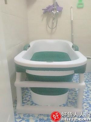 interlace,1# - 蒙贝贝泡澡桶可折叠浴桶浴缸,家用大人加大加高沐浴盆全身洗澡桶