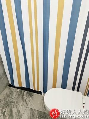 interlace,1# - 卫生间浴帘防水布套装,浴室免打孔窗帘防霉帘子挂帘洗澡挡水隔断帘