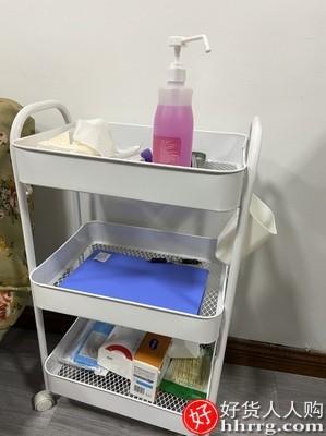 interlace,1# - 落地厨房浴室移动小推车置物架,卫生间多层卧室床头收纳储物架