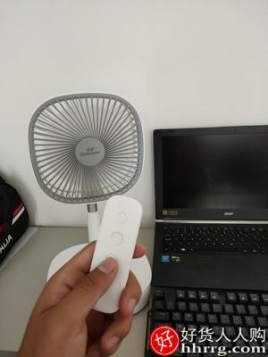 interlace,1# - 倍量折叠伸缩落地小电风扇,USB大风力无线摇头可充电便携台式电风扇