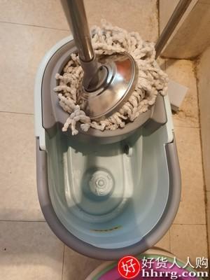 interlace,1# - 尚奇旋转拖把,通用免手洗拖把家用一拖净墩布桶拖地自动甩干懒人拖布