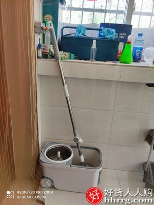 interlace,1# - 洁仕宝旋转拖把,免手洗家用地拖一拖墩布净自动甩干拖布桶
