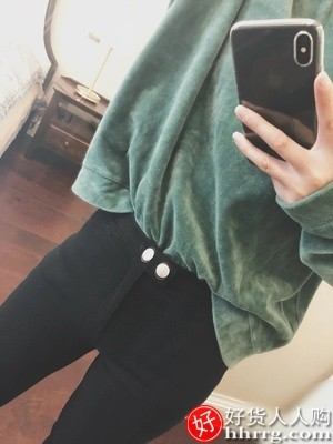 interlace,1# - 魔术黑色打底裤女,铅笔高腰薄款显瘦外穿夏春秋小脚黑裤