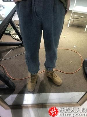 interlace,1# - 潮牌男士牛仔裤,宽松直筒阔腿韩版哈伦裤束脚休闲长裤