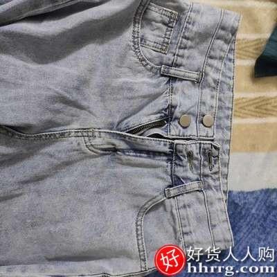 interlace,1# - 阔腿牛仔裤女,高腰显瘦破洞宽松垂感拖地裤子