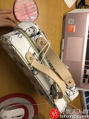 interlace,1# - EACHY化妆包大容量手提化妆箱,便携旅行小号化妆品收纳盒