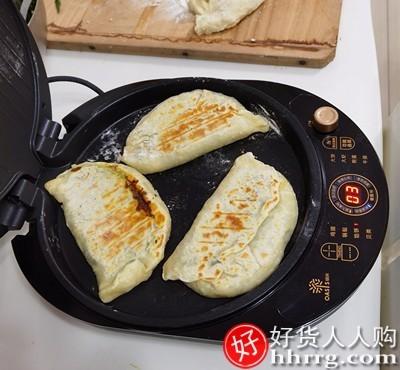 interlace,1# - 利仁电饼铛绿洲g3,家用双面加热加深加大自动断电煎烤饼机烙饼锅