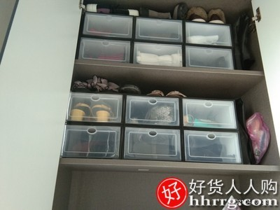 interlace,1# - 加厚鞋盒收纳盒透明鞋子鞋柜收纳,抽屉式整理箱塑料简易鞋架