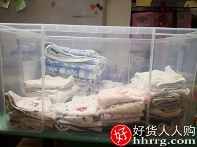 interlace,1# - 特大号加厚塑料衣服收纳箱有盖,整理箱家用零食玩具书籍透明储物盒