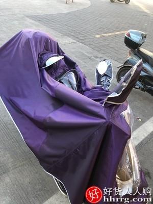 interlace,1# - 中南电动摩托车双人雨衣,男女款加大加厚电瓶车长款全身防暴雨雨披