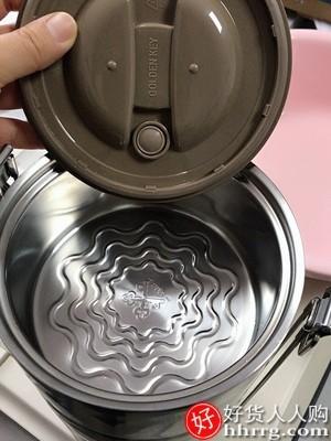 interlace,1# - 金钥匙多层304不锈钢饭盒,大容量保温饭盒桶四层餐盒分格