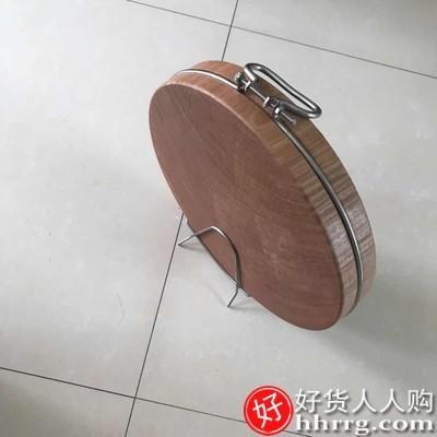 interlace,1# - 江南太太正宗铁木砧板实木菜板,家用防霉蚬木切菜板圆形整木越南粘板案板