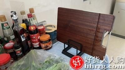 interlace,1# - 双枪整木砧板乌檀木切菜板,实木菜板家用抗菌防霉砧板案板粘板刀板